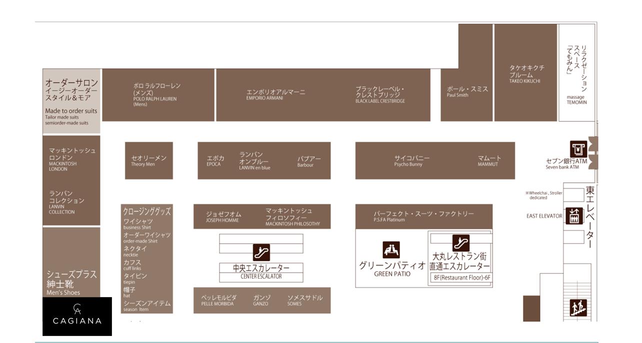 大丸札幌店6Fフロアマップ