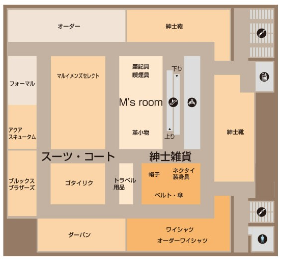 丸井今井札幌本店フロアマップ